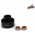 13T Ultimate Flow Vented Clutch Bell HARDENED Come with : 2 pcs of  5x10x4mm Thunder bearings