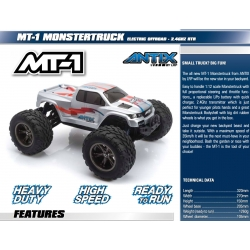 LRP MT-1 ELECTRIC OFFROAD MONSTERTRUCK - 2.4GHZ RTR