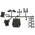 Hong nor XT-30 - HONG NOR X2-CRT BODY POST/SKID PLATE/TANK POST SET