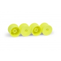 Team Xray M18T 389939 Xray M18T Aerodisk Wheels - Yellow (4)