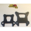 Team Xray XB8 15 Carbon fiber Front Shock Tower 4.0mm & Rear Shock Tower 3.0mm